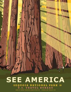 See America travel posters by Steven Thomas #travel #illustration #poster #art #usa #america