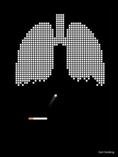 this isn't happiness.™ #campaign #cigarette #black #concept #anti #smoking