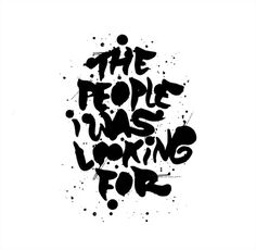 The People i Was Looking For on Behance #dabol #photography #typography