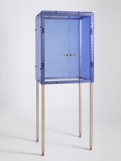 Cloud Cuckoo Land #acrylic #copper #cabinet #glass #wood #furniture #transparent #plexi #object #blue