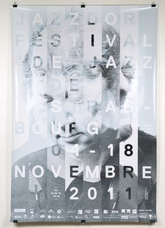 Jazz festival in Strausbourg #jazz #france #photography #poster #typography