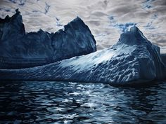 Pastel Icebergs by Zaria Forman 6 #painting #sea #art