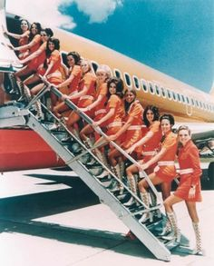 Dark Roasted Blend: The Glamour of Flight, Part 1 - Sexy Flight Attendants #flight #attendant #aviation #commercial #photography #vintage