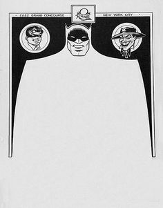 Batman Letterhead #kane #bob #design #batman #illustration #letterhead
