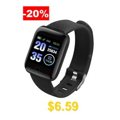 Smart #Bracelet #Band #With #Heart #rate #Monitor #Blood #Pressure #Fitness #Tracker #Wrisatband #- #Black