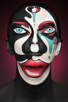 interesting face paint #illusion