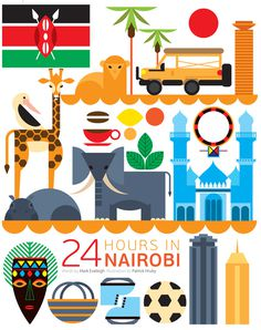 24 hours in Nairobi #illustration #design #kenya #nairobi