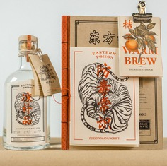 Eastern Poison Gin packaging design and branding