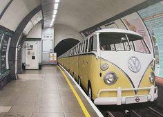 Retro Volkswagen Metro Bus