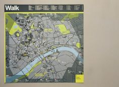 WalkRide map | Cartlidge Levene / Bench.li #design #typography