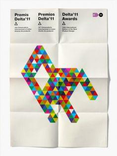 Tumblr #design #white #triangles #colour #diego feijo #full colour