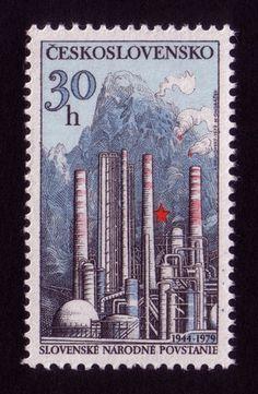Blast Furnace / Stamp #stamp #illustration #design #factory
