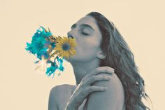 Surreal and Landscape Nude Photography by Amanda Charchian: 271.jpg #faded #girl #petals #colours #photography #portrait #hippie #art #mouth #flowers #beauty