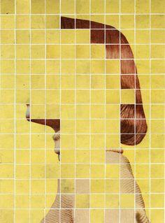 Anthony Gerace #art  #portrait #squares #vintage #woman