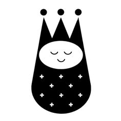 Whimsical logo for Little Majesty, infant clothes designed by Morton Goldsholl and John Webber of Goldsholl Associates 1960 #crown #trademark #modern #icon #infant #identity #mid #century #logo #baby