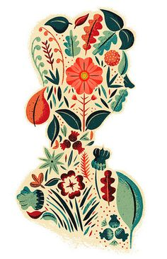 Visual Graphic Graphic Design Inspiration Blog #illustration #pattern #floral