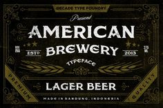 American Brewery Typeface #brewery #typeface