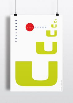 Swiss Poster - Uu #type #swiss #style #typography