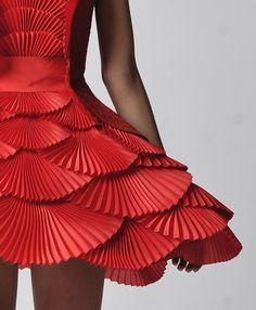 red #fashion #dress #paper