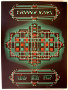 Chipper Jones #screen #print #geometric #poster