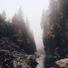 (22) Likes | Tumblr #autumn #rock #river #trees