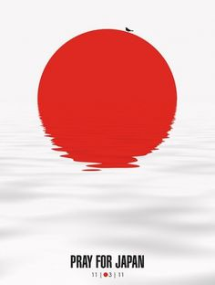 Pray for Japan | Flickr: Intercambio de fotos #minimalism #japan #poster
