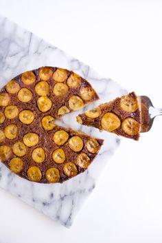 Salted Caramel Banana Upside Down Cake