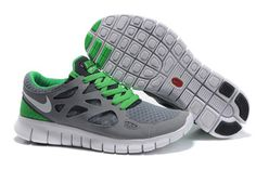 Nike Free Run 2 Stealth White Anthracite Lucky Green-Mens