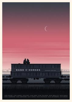 Simon Marchner Band Of Horses European Tour Poster
