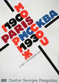 "Poster exhibition ""Paris Moscou 1900 1930"", 1979 #paris #1900 #1930 #exhibition #poster #1979 #moscou"