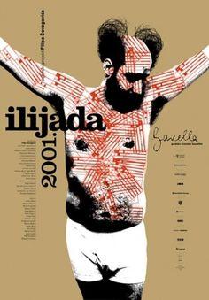 Studio Cuculić | Radovi - kazalište gavella, ilijada 2001 #design #graphic #poster