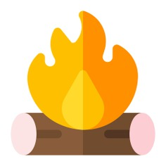 See more icon inspiration related to camp, fire, wood, flame, campfire, bonfire, camping, hot, burn and nature on Flaticon.