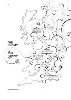 The Enemy tour poster on the Behance Network #flourish #si #type #freehand #scott #tour #typography