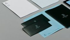 design work life » cataloging inspiration daily #white #aqua #black #logo #envelope #collateral #blue #letterhead