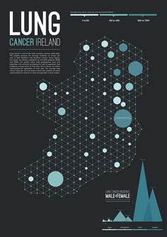 Lung Cancer Ireland/ N.Ireland Infographic #print #infographic #cancer #ireland #edd gray
