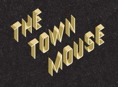 A Friend Of Mine: The Town Mouse #design #graphic #identity
