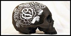 Brian_Morris_skull.jpg (JPEG Image, 773×400 pixels) #flower #skull #dark #painted