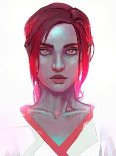 Red Portrait by Rashedjrs