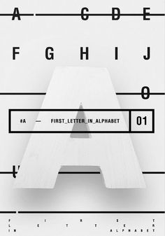 First letter in alphabet