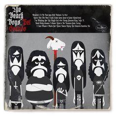 petsoundsblackmetal #album #black #sounds #cover #illustration #boys #metal #beach #pet