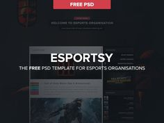 Esportsy : Free PSD template for Sport Website