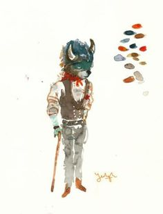 Yeohgh #paint #fox #sketch #watercolour