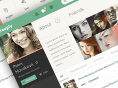 Grouply nahlad #social #gray #ui #green