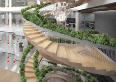 CJWHO ™ (The Living Staircase by Paul Cocksedge | via ...) #design #interiors #wood #architecture #stairs #green