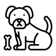 See more icon inspiration related to dog, pet, bone, food, food and restaurant, farming and gardening, animal kingdom, canine, mammal, puppy and animals on Flaticon.