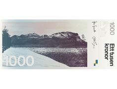 Proposal for New Money | Stockholm Design Lab #sweden #design #graphic #banknote #bank #money