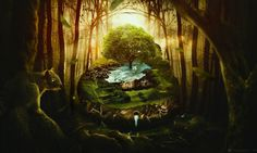 Fantasy Forest Long Trees Best Hd Wallpapers For Pc – WallpapersBae