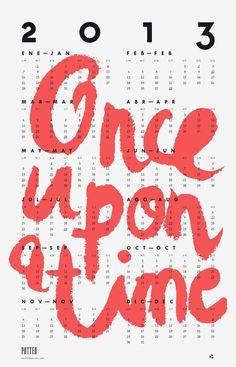 Calendar #2013 #calendar #patten #typography