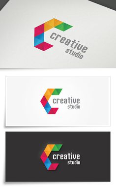 Creative Studio | Colorful Logo #creative #abstract #agency #eps #c #market #artistic #illustrator #cdr #media #colorfull #video #brand #app #letter #studio #idea #splash #web #shadow