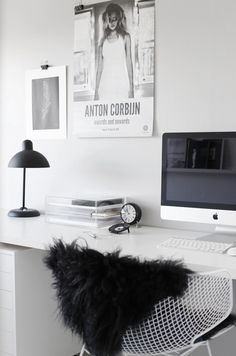 White & other colors #office #desk #home #workspace